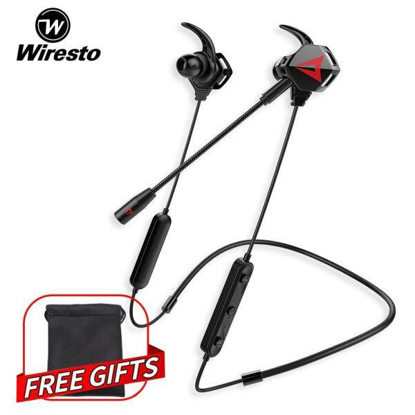 Wiresto Wireless Bluetooth Gaming Earbuds In Ear Headphones HD Stereo Headset Sport  Earphone Noise Canceling Stereo Headset with Dual Microphone Free Bag Singapore