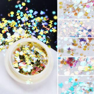 Tự Làm Đầy Màu Sắc Symphony Laser Holographic Trang Trí Móng Nghệ Thuật Sequin Gắn Móng Aurora Sequins Làm Móng Tay thumbnail