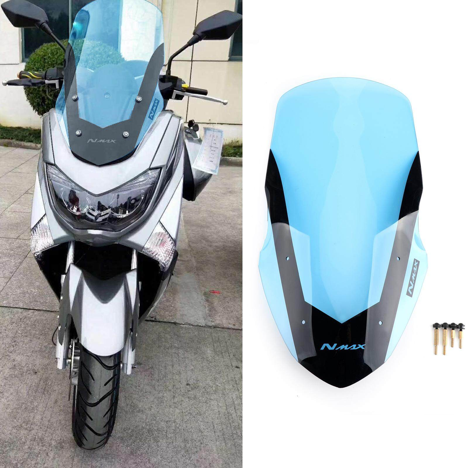 Areyourshop ABS Plastic Motorcycle Windshield WindScreen For Yamaha NMAX155  NMAX 155 2016-2018 Blue