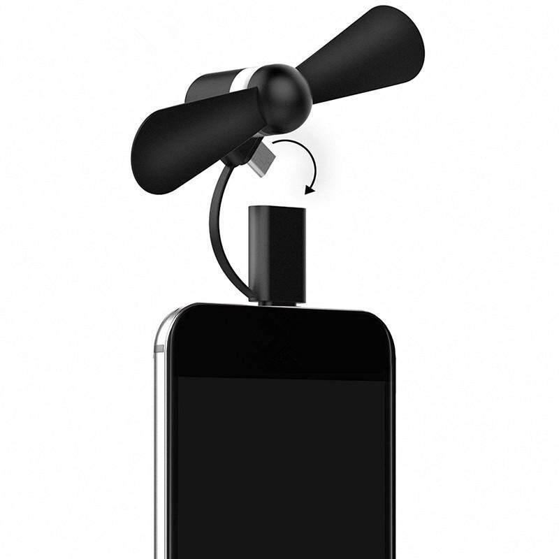 Bảng giá Mini 2 trong 1 Xách Tay Micro USB Quạt cho Điện Thoại Thông Minh ĐTDĐ Tay Quạt USB Tiện Ích Phong Vũ