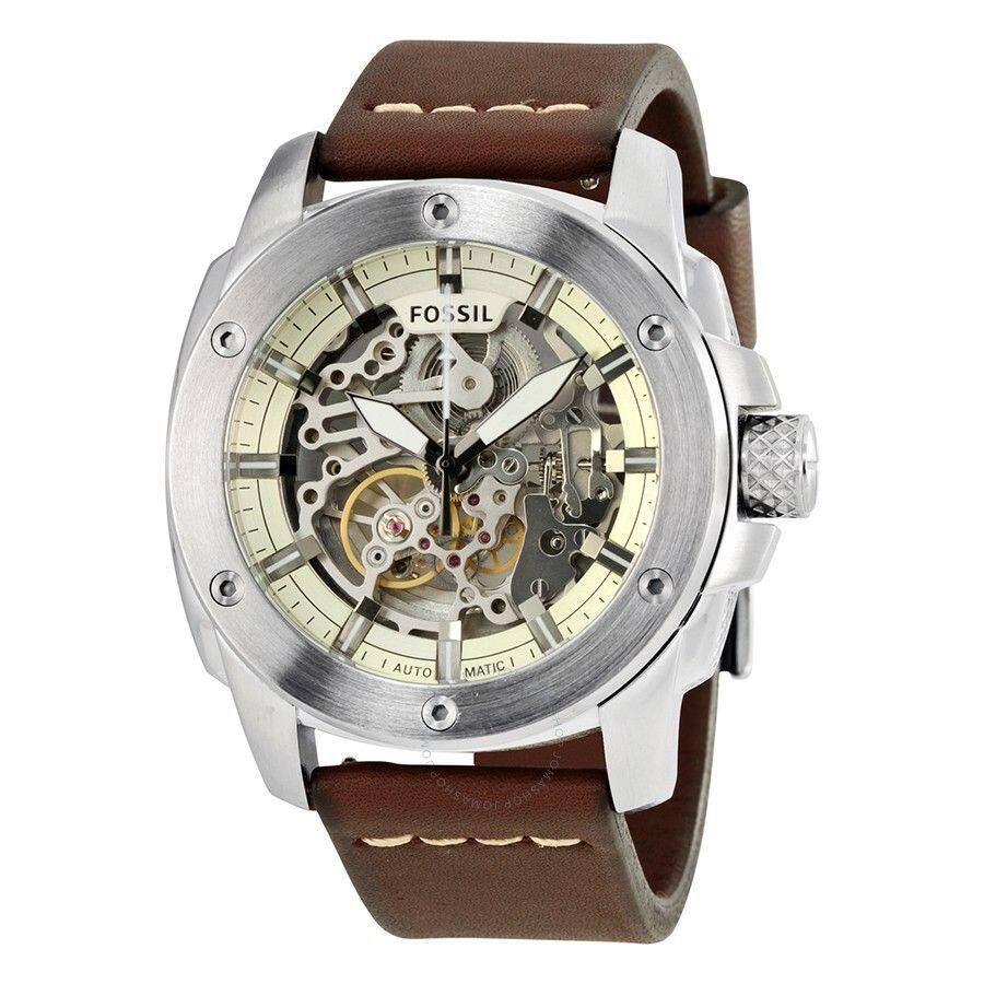 Fossil Modern Machine Skeleton Dial Automatic Mens Watch ME3083 Malaysia