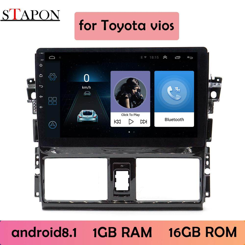 STAPON 10inch 2.5D for Toyota vios 2013-16 Android8.1 1G RAM car HEAD UNIT plug and play  multimedia player with WiFi Bluetooth GPS steering wheel control rear view 1010A image