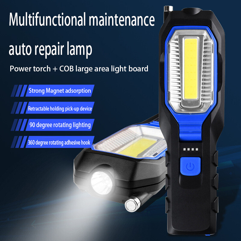Bảng giá 100W LED Outdoor Retractable Work Light Household Emergency Hand-held Light Multi-Function Magnetic Flashlight Outdoor Distress Flashlight