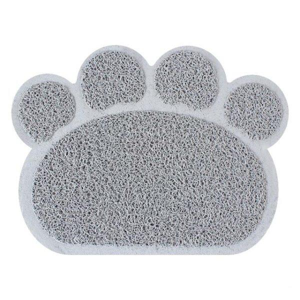 30Cm * Tấm Lót Cho Mèo Ăn Cho Chó Con Chó Cưng 40Cm Bát Đĩa PVC Hình Chân Dễ Thương Thực Phẩm Nước Khăn Trải Bàn Làm Sạch