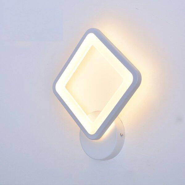 QNSTAR Bedroom Rhomboid Lamp LED Wall Lamp Bedside Light