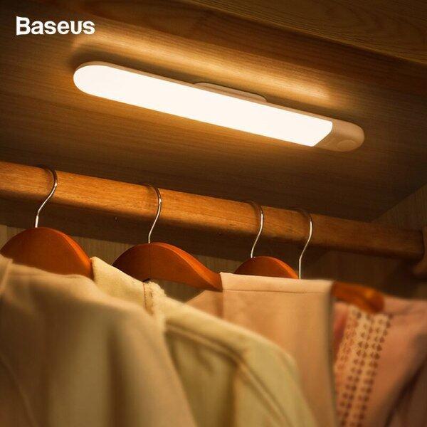 Baseus Led Cabinet Light Pir Motion Sensor Human Induction Cabinet Wardrobe Lamp Under Cabinet Night Light For Kitchen Bedroom