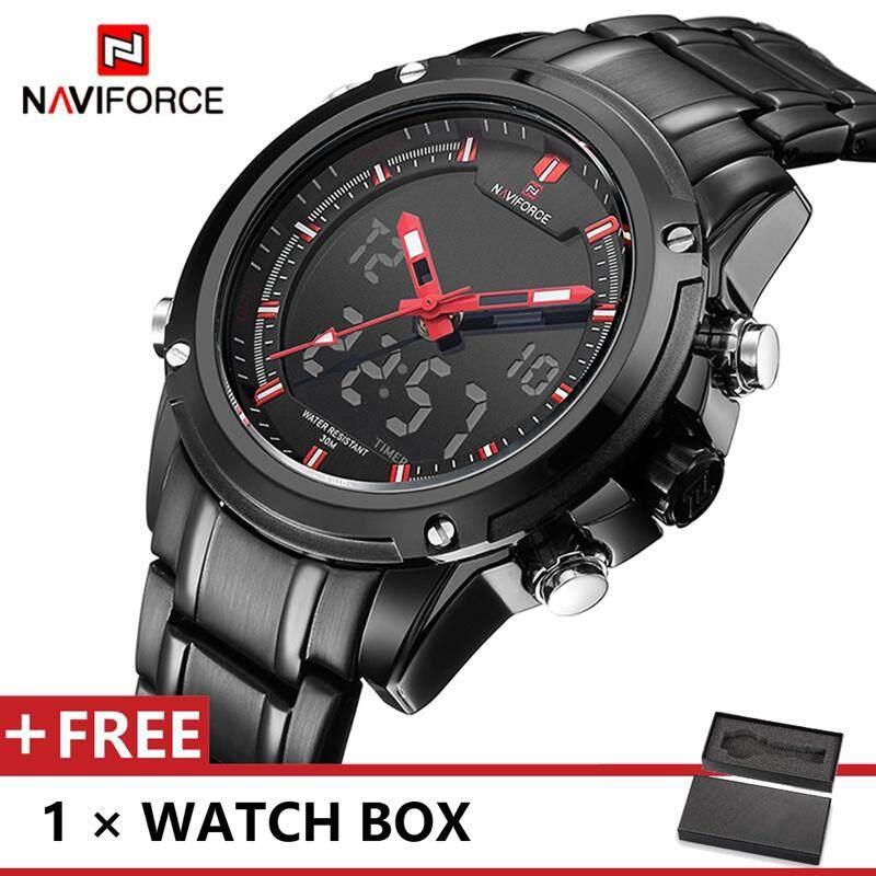 NAVIFORCE 9050 Top Luxury Brand Watch For Man Fashion Sports Men Quartz Watches Trend Wristwatch Gift For Male jam tangan lelaki Malaysia