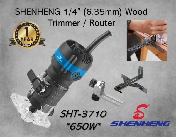 SHENHENG SHT-3710 1/4 ( 6.35mm ) Electric Wood Router / Trimmer ( 650W )