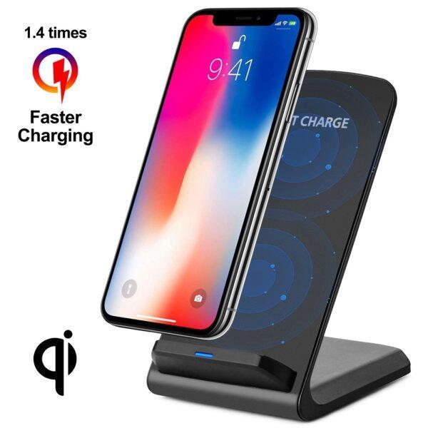 Giá Miếng Sạc Không Dây Kính Sạc Nhanh 10W Qi Cho Samsung Galaxy S10 Plus S8 iPhone XS Huawei P30 Bộ Sạc Không Dây Siêu Máy Tính Để Bàn