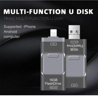 Miễn Phí thanh Toán Khi Nhận Hàng + Ổ Đĩa IFlash USB OTG Kim Loại 100% GB 128GB 256GB Chính Hãng 512, Ổ Đĩa Flash USB 3 Trong 1 Dành Cho iPhone thumbnail
