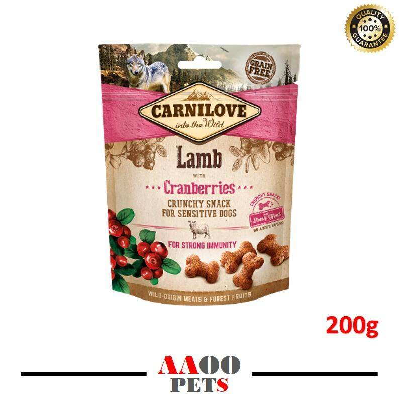 Carnilove Lamb With Cranberries Crunchy Snack - Dog Treats (200g) By Aaoo Pets.