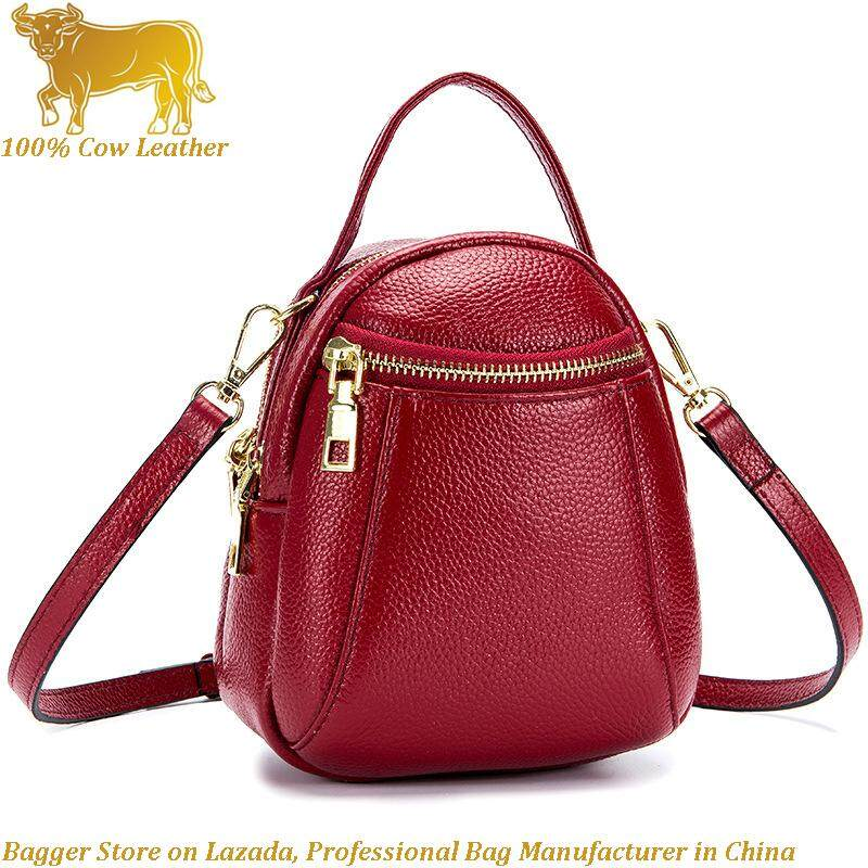 982d79222d4b9 Backpack For Women Girls Genuine Cow Leather 2019 New Fashion Travel Sling  Small Bags