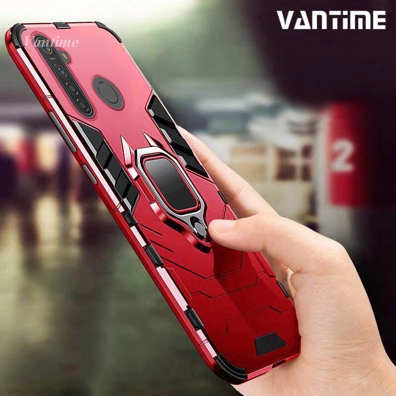 Giá Vantime dành cho Realme 5 Pro, Realme 5 Vòng Chân Đỡ Vỏ Cứng Chống Sốc Từ Tính Giá Đỡ Kẹp Trên Xe Nắp Lưng