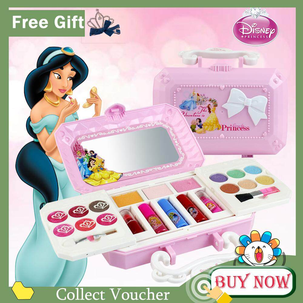 【free Gift】dlsney Cosmetics Play Set Princess Makeup Kit With Case Non-Toxic Best Birthday Gift For Little Girls By Bagbigb Mall.