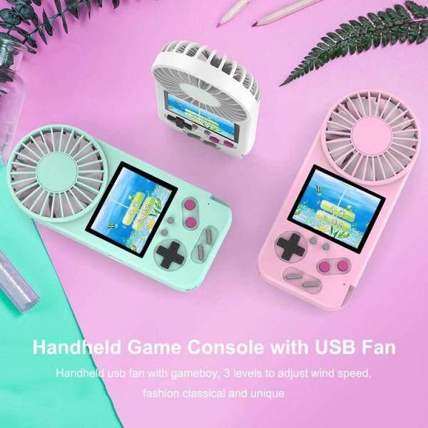 Máy Chơi Game Cầm Tay Kèm Quạt USB Màn Hình Màu 500 Trò Chơi