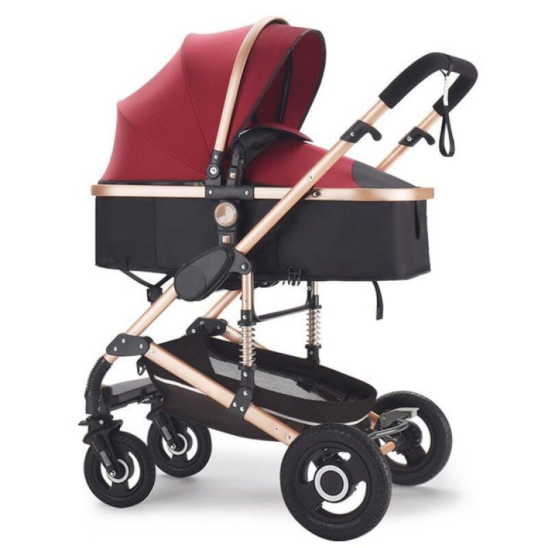 Baby Stroller 3 in 1 stroller Multifunctional High Landscape Stroller baby buggy baby pram newborn baby trolley pushchair Singapore