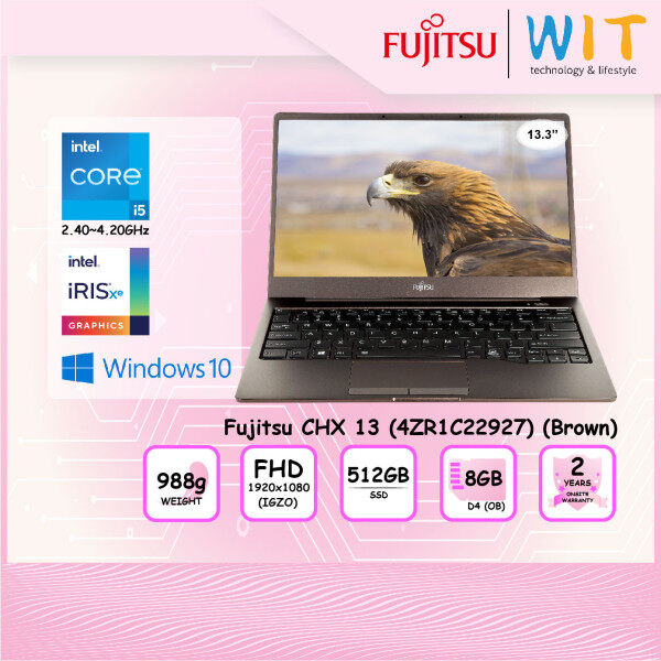 Fujitsu Laptop CHX 13(4ZR1C22927)(Brown)/Intel Core i5-1135G7 2.40~4.20GHz/8GB D4(OB)/512GB SSD/13.3 FHD(IGZO)/Intel Iris Xe Malaysia