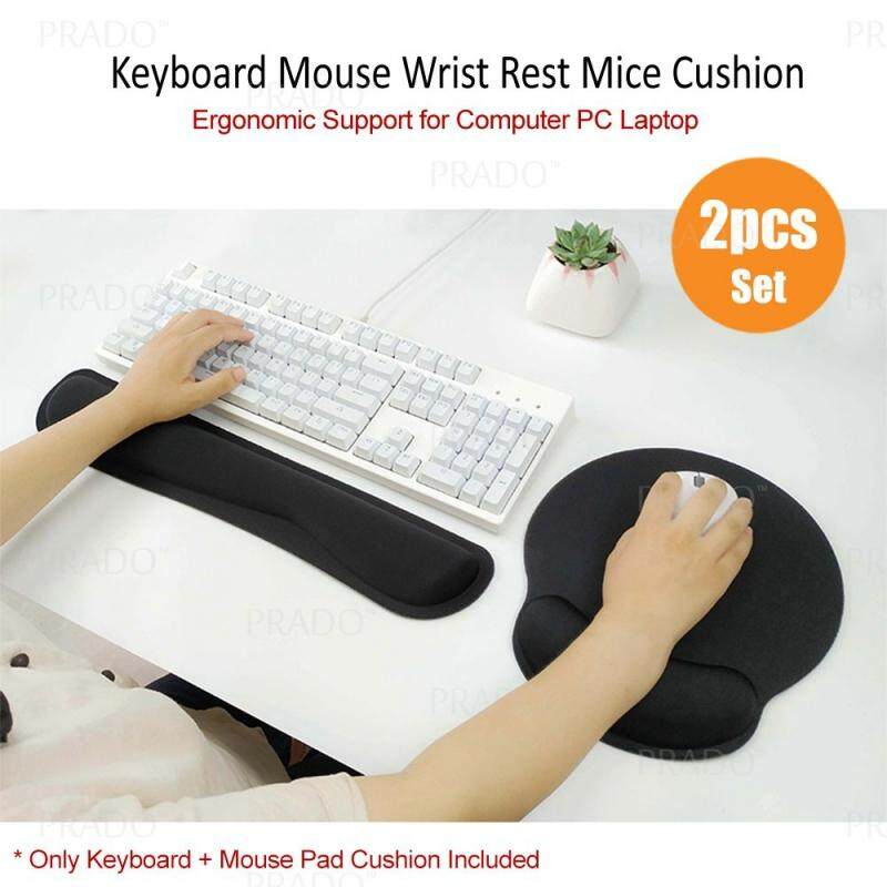 PRADO Ergonomic Support Memory Foam Comfortable Cushion Keyboard Wrist Full Mouse Pad Prevent Carpal Tunnel for Computer & Laptop Rest Pad Set Malaysia