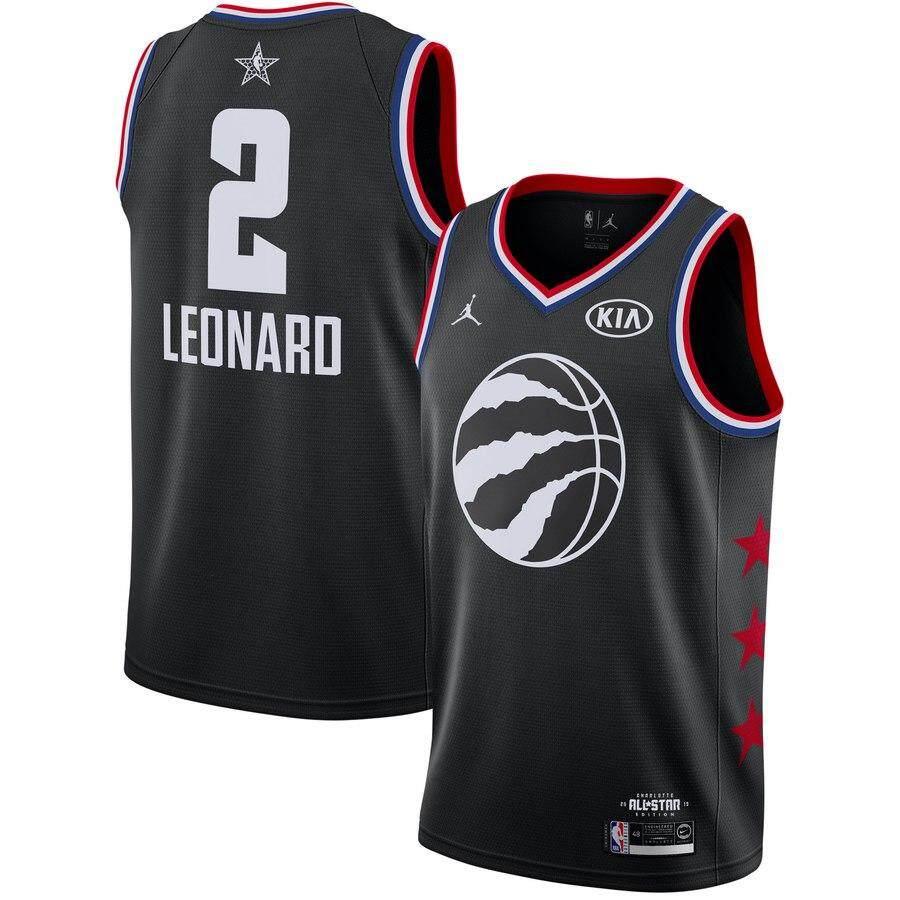 afa7885c6ce 2019 All-Star Toronto Raptors #2 Kawhi Leonard Black Basketball Jersey