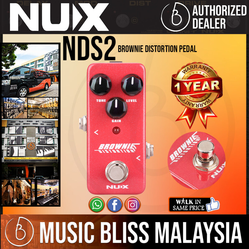 NUX NDS2 Brownie Distortion Pedal (NDS-2) *Crazy Sales Promotion* Malaysia