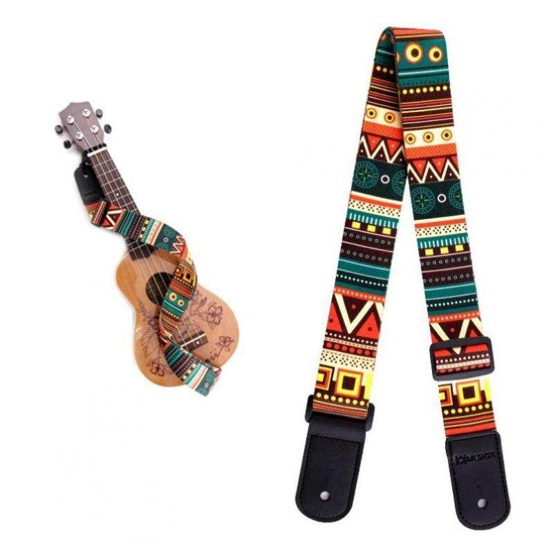 Adjustable Printing Ukulele Strap Four Strings Guitar Belt with Soft PU Leather Head Malaysia