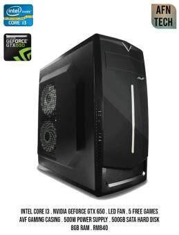 Gaming Design PC Intel COre i3 Nvidia Geforce Gtx 650 8Gb Ram 500Gb Hdd