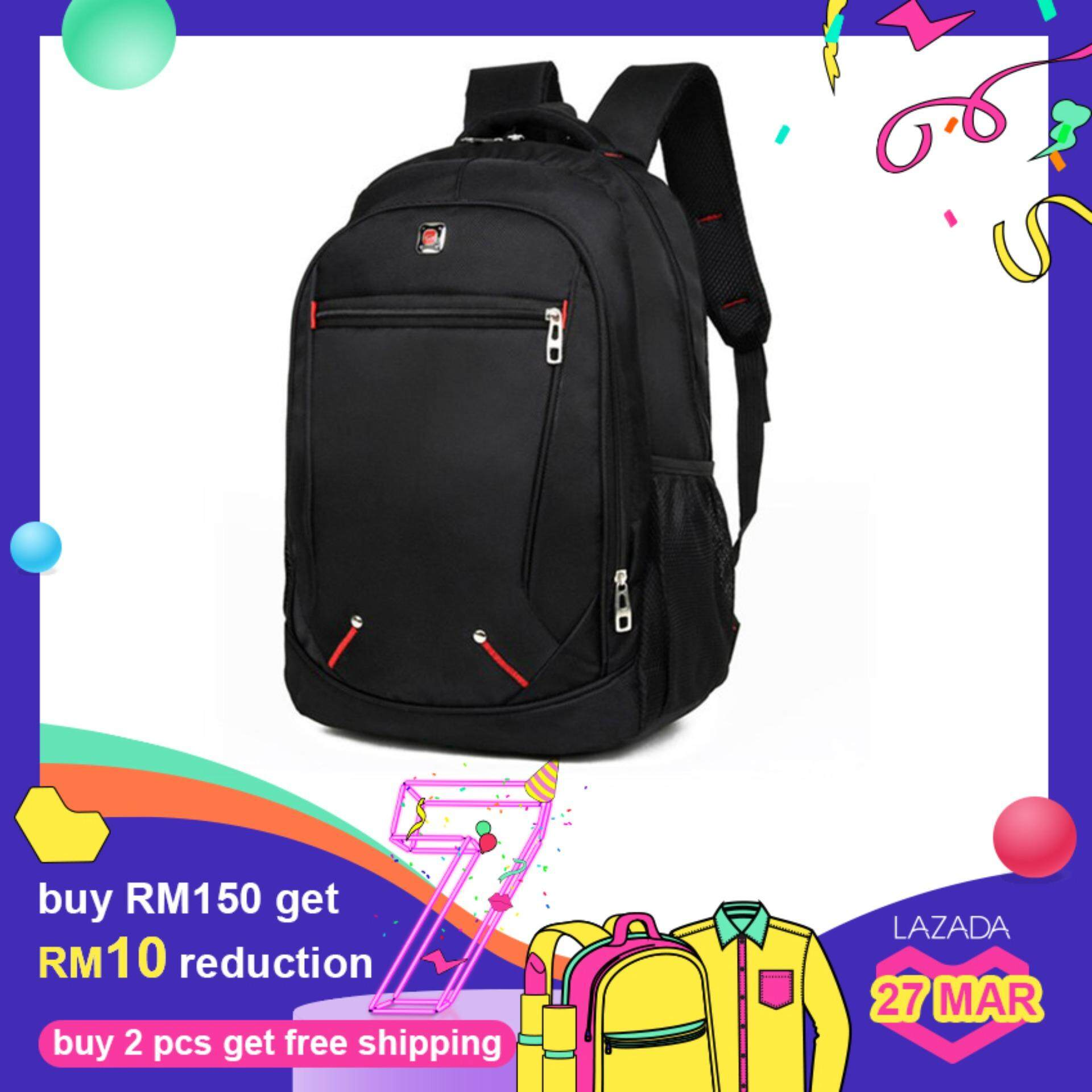 3c215f7a3852 Casual Solid Color Material Oxford Man s Backpack Multi-functional  Large-capacity Student Schoolbag Simple