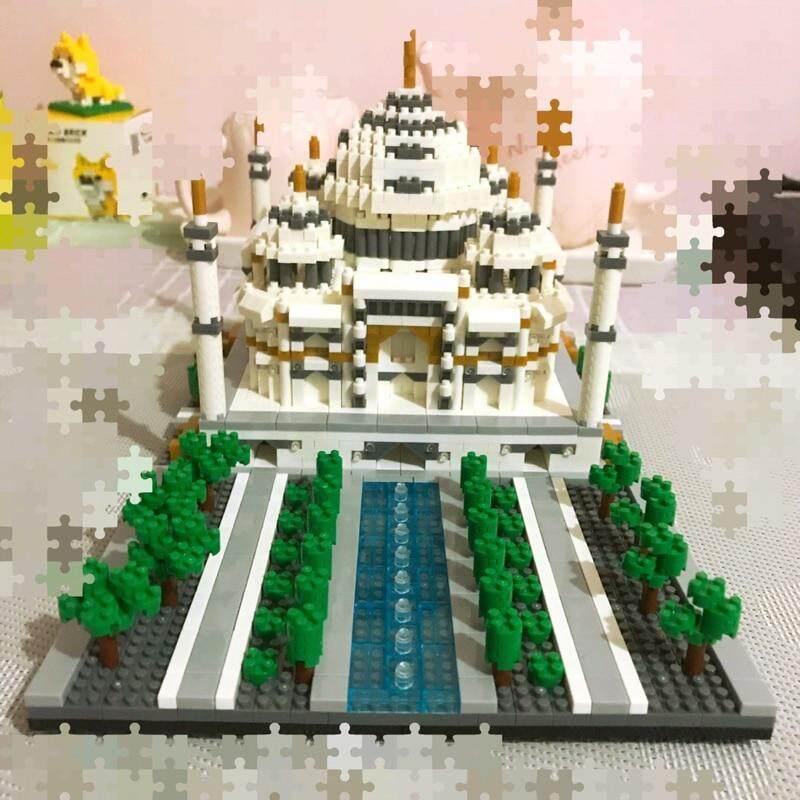 YZ World Architecture Taj Mahal Palace Diamond Mini DIY Building Nano Blocks Toy