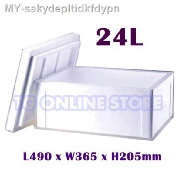 Styrofoam Ice Box   Cooler Box   Picnic box   Foam Box   Fish Box   Tong Ais Polyfoam   Gabus(24L)