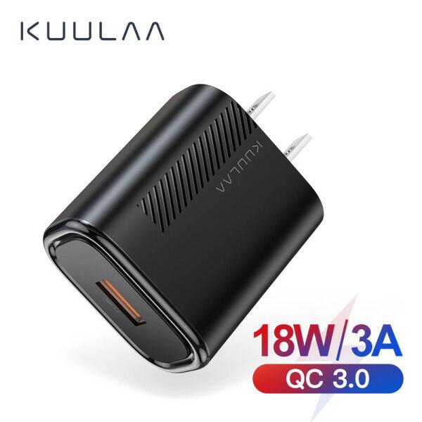 Giá Sạc Nhanh KUULAA 3.0 QC 18W USB Mỹ Sạc Cho Xiaomi Redmi Note 8 7 QC3.0 Sạc Nhanh USB Tường Sạc Điện Thoại Cho Samsung S10