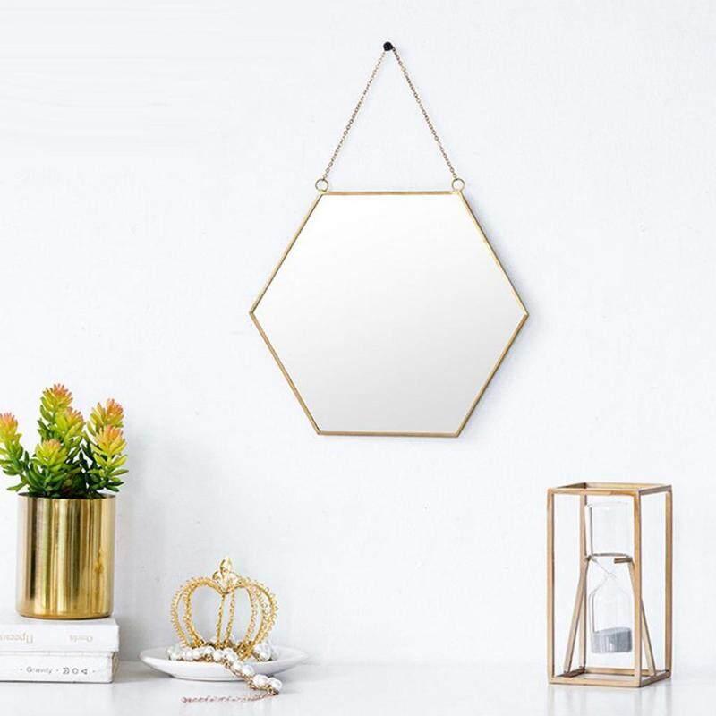 Acituna Bắc Âu Đồng hồ nam sắt vàng Tường dessing Gương phòng tắm Gương treo tường 2 chiếc C