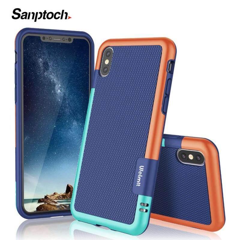 Giá Vỏ Điện Thoại Chống Sốc Siêu Mỏng 3 Màu Santotoch Cho Iphone 11 Pro Max X XS Max XR Vỏ Nhựa TPU Mềm Cho iPhone 7 8 6 6S Plus Ốp Bảo Vệ