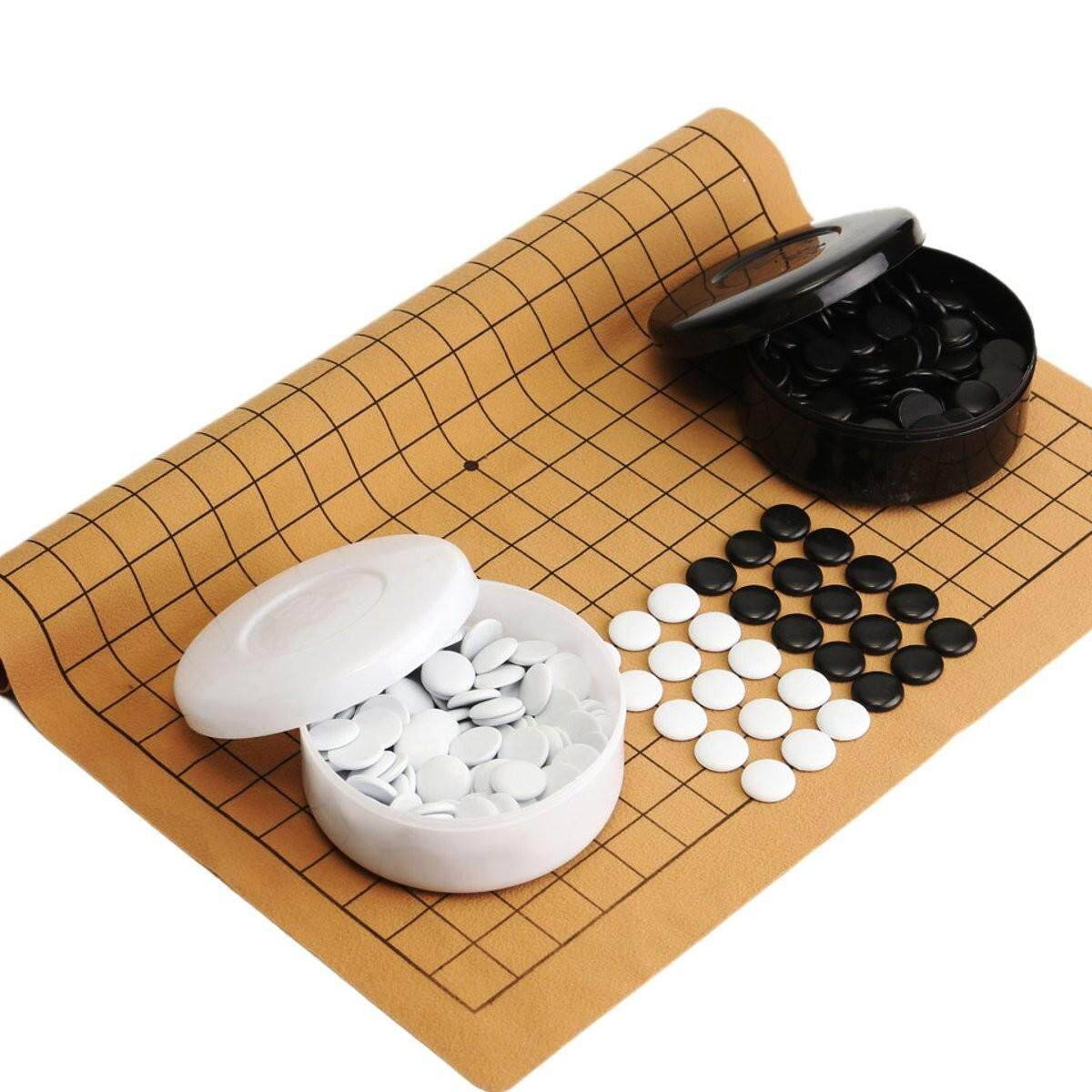 361Pcs/Set Go Game Weiqi Professional Bang Mental Suede Leather Board Sheet Play