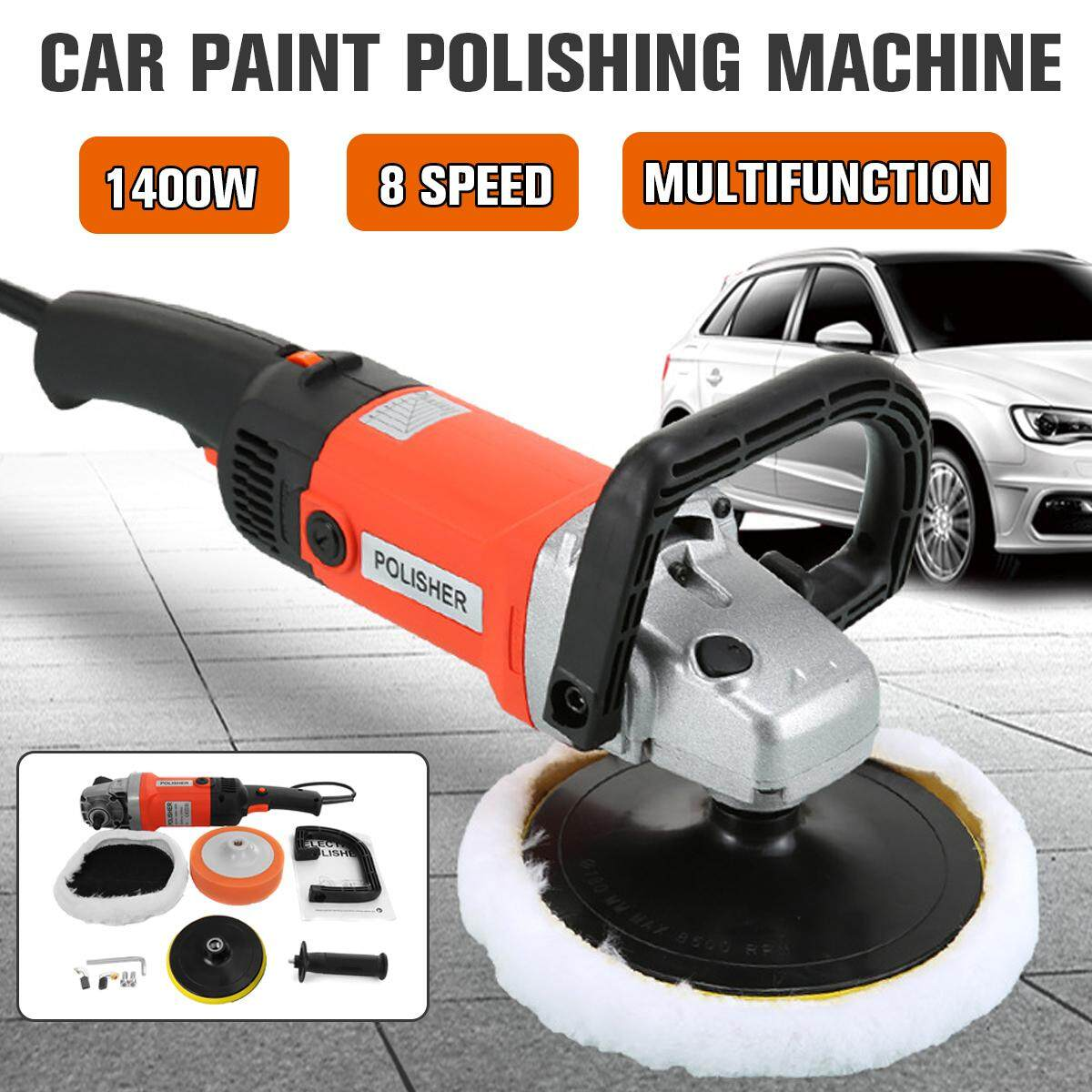 1400w 220V 8 Speed Electric Car Polisher Sander Buffer Polishing Machine Kit