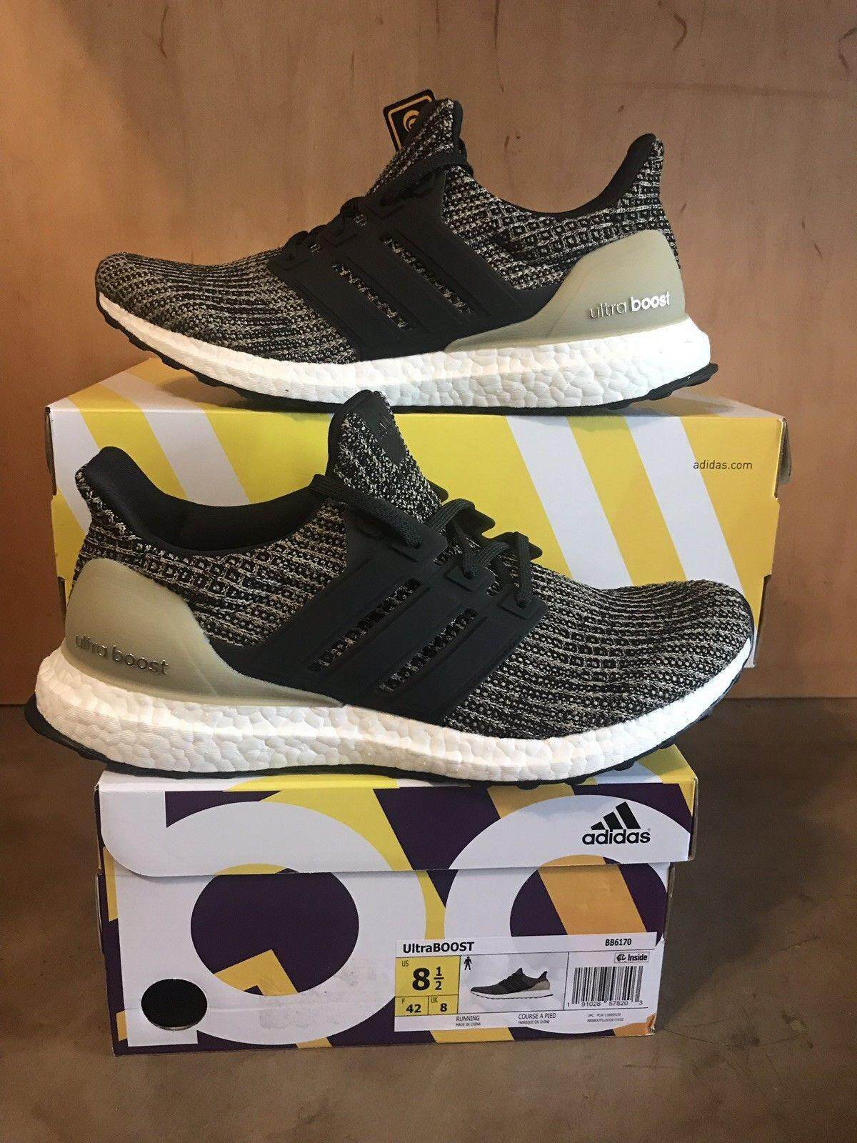 3331c194cf0 2019 Fashion Mens Adidas Ultra Boost Running Shoes Trainers Core Black Carbon Ash  Silver Hot