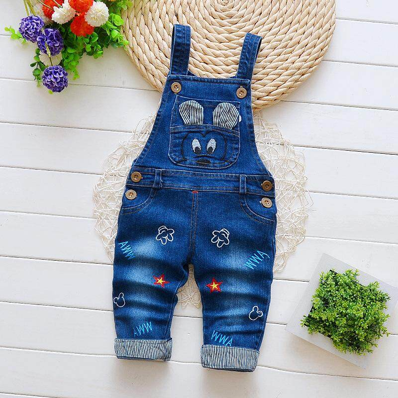 9d53a36a6ea IENENS Spring Toddler Infant Boys Long Pants Denim Overalls Dungarees Kids  Baby Boy Jeans Clothes Clothing