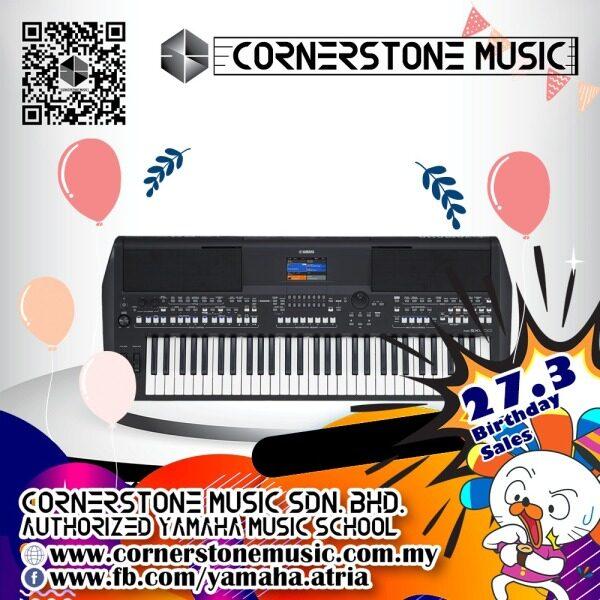 Yamaha Digital Workstation Keyboard PSR-SX600 ( PSR SX600 / PSRSX600 / PSR SX 600 ) - B / Black Cornerstone Music Malaysia