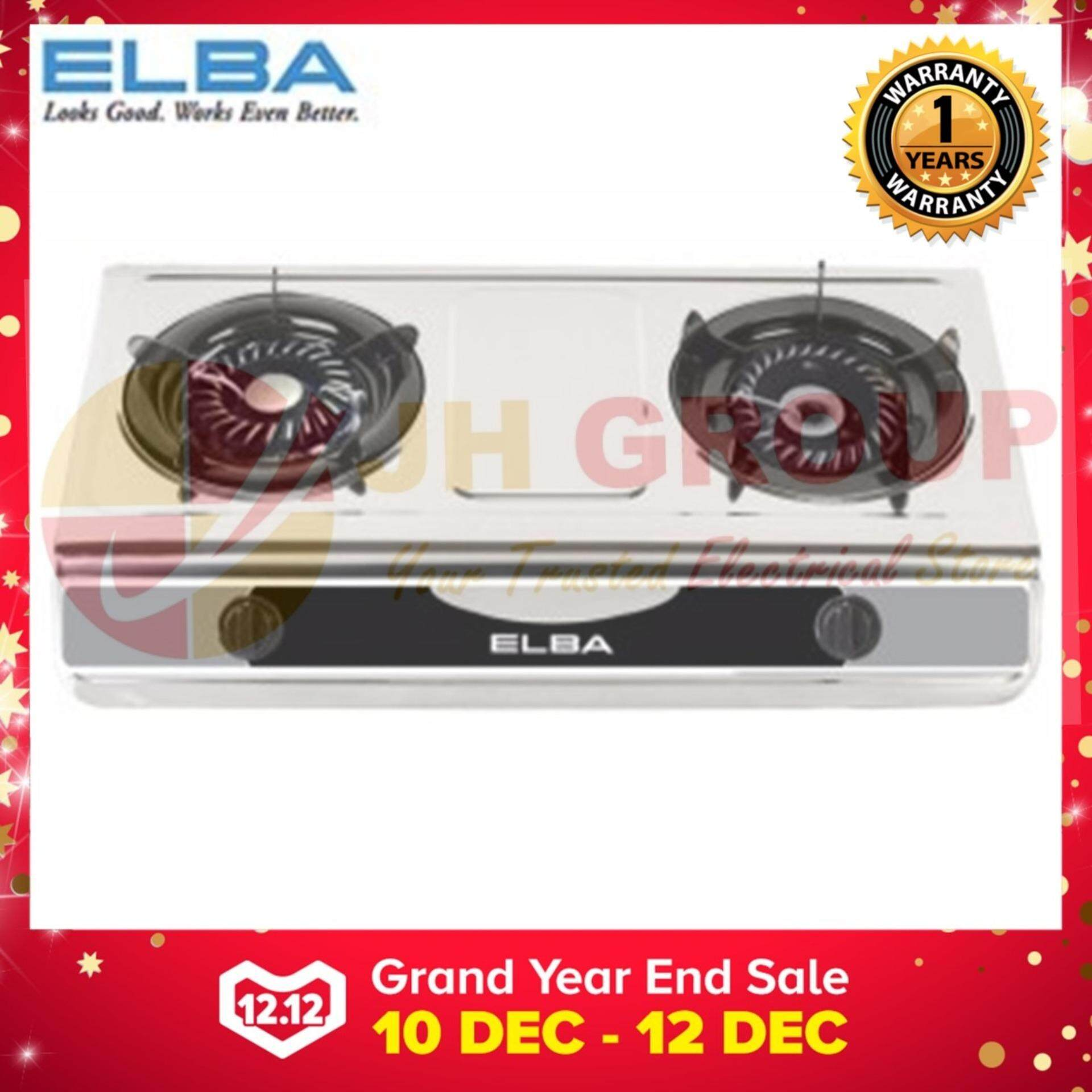 Elba Egs F7112 Ss 2 Burner Stainless Steel Gas Stove Cooker Double