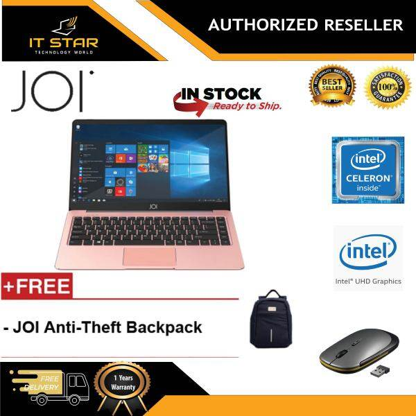 JOI Book 100 14.1  FHD Laptop Rose Gold ( N3450, 4GB, 32GB+256GB, Intel, W10H ) Malaysia