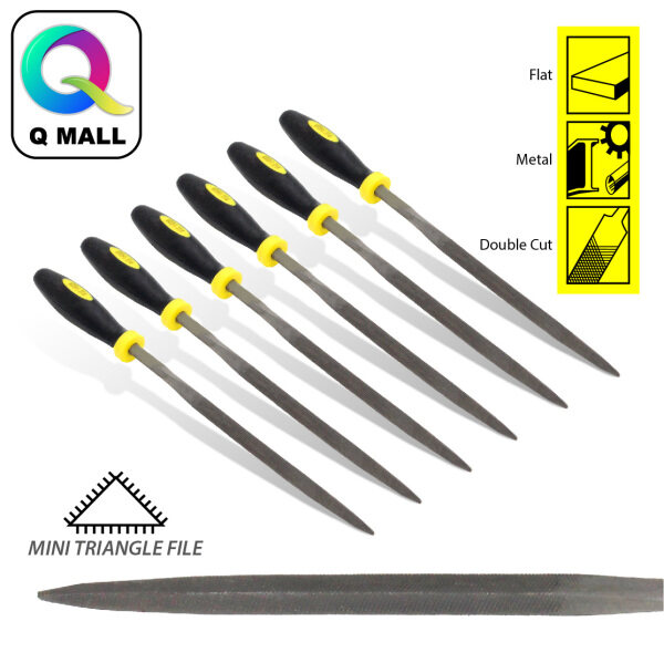 FIVE SHEEP 6pcs 5x180mm Wood Carving Tools Mini Needle Triangle File Set Metal Filing