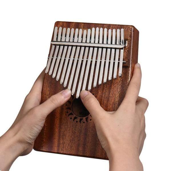 Kalimba xách tay 17 phím Đàn Piano mbira Nhạc cụ gỗ gụ rắn Quà Tặng Dành cho những người yêu âm nhạc Học sinh mới bắt đầu