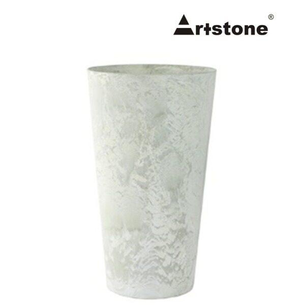 Artstone Decorative Flower Vase / Pasu Bunga Tinggi Hiasan / Indoor and Outdoor/ Lightweight / Modern Marble Stone Look / Claire D14 H26