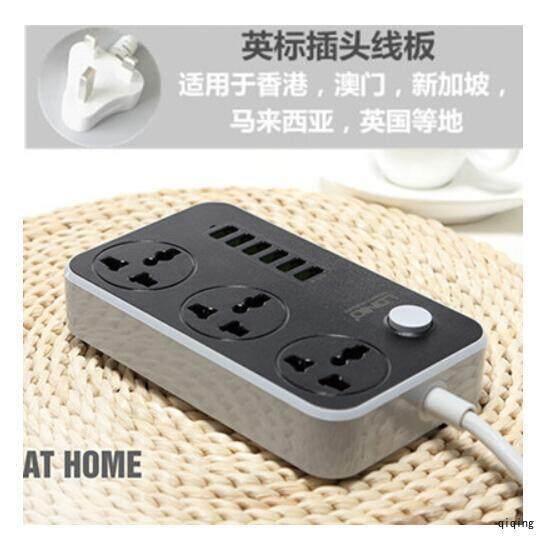 【Free Shipping】Smart 3.4A Socket Power 1trip Fast Charging 1 USB Extension Socket(White)-UK Plug