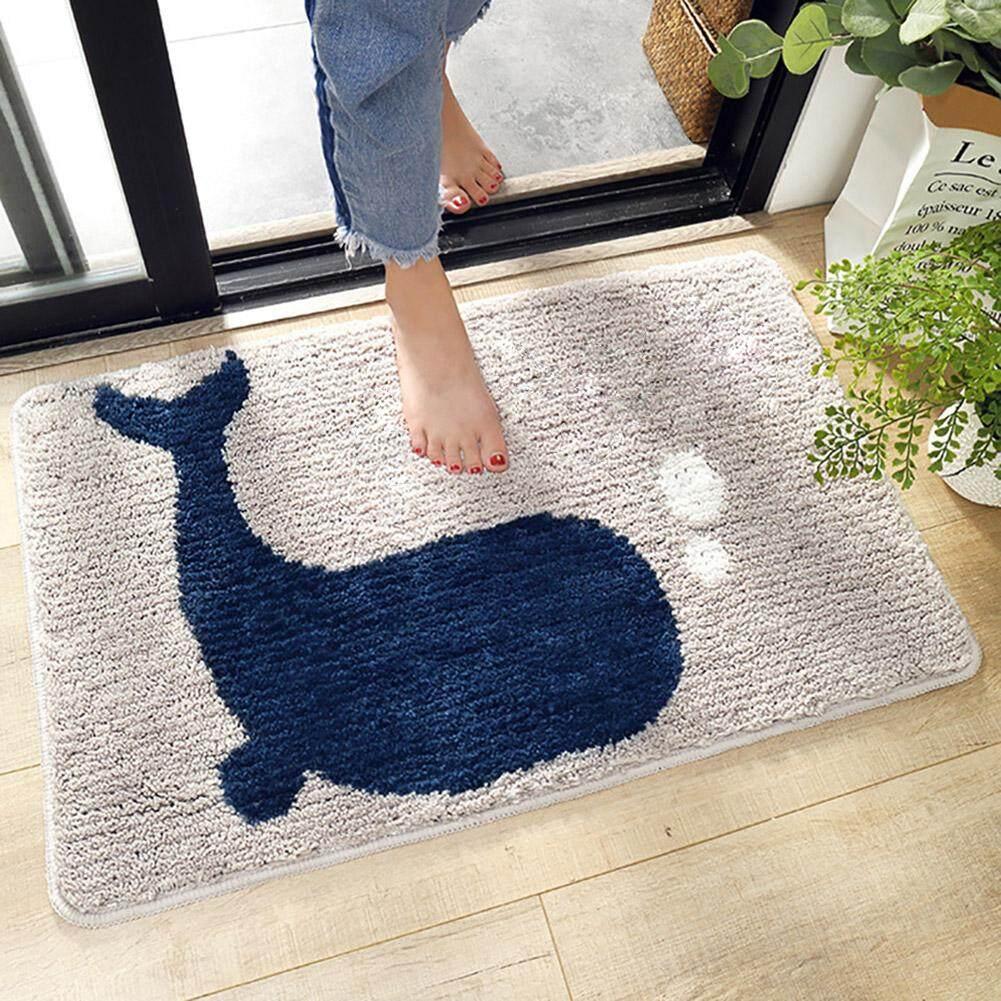 GUO Cartoon Whale TPR Floor Mat Anti-Slip Bottom Mat for Bathroom Kitchen