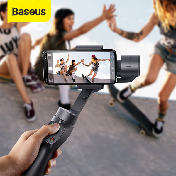 Baseus Gậy Tự Sướng Bluetooth 3 Trục Chống Rung Cầm Tay Giá Đỡ Có Thể Thu Gọn Ngoài Trời Với Kéo Lấy Nét & Thu Phóng Cho Camera Hành Động Iphone