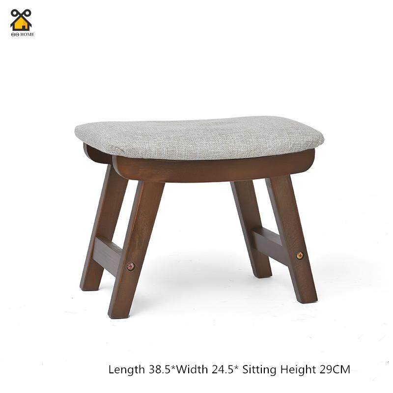 Solid Wood Stool Living Room Creative Small Bench Home Adult Wear Shoes Stool Sofa Change Shoes Stool Fabric Stool