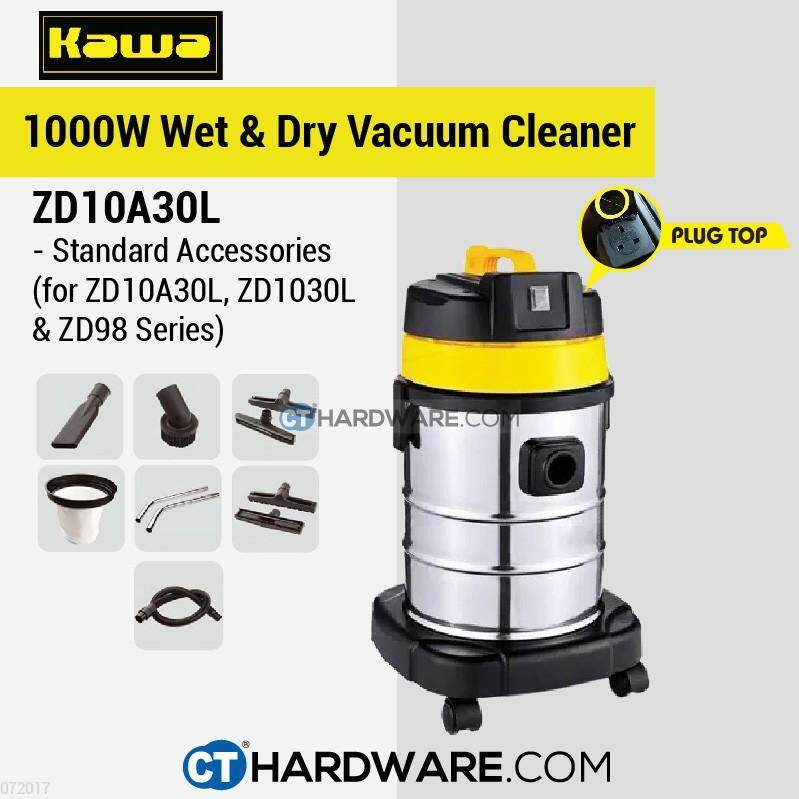 Kawa ZD10A30L Wet & Dry Vacuum Cleaner Come With Socket Plug