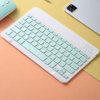 Bàn Phím Bluetooth Không Dây Di Động, Bộ Chuột Bàn Phím Bluetooth Thông Dụng 7 Inch Cho IPad Samsung Xiaomi Android Tablet thumbnail