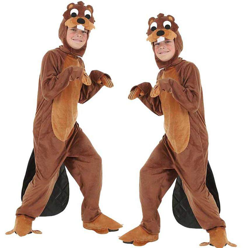 Parent-child Animal Play Clothing Adult Children's Otter Cosplay Costume Plays Stage Costumes Halloween Costume Parent-child Game Clothing Show Performance Clothing