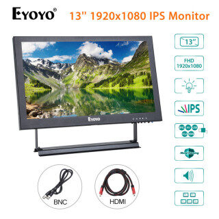 Eyoyo Màn Hình IPS HDMI 13Inch Màn Hình IPS-LCD 1920X1080 Với Đầu Ra BNC VGA AV, Dành Cho CCTV DVD Máy Tính Xách Tay Máy Quay DVR CCD, Loa Tích Hợp thumbnail